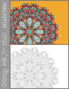 unique coloring book page for adults - flower paisley design, joy to older children and adult colorists, who like line art and creation, vector illustration